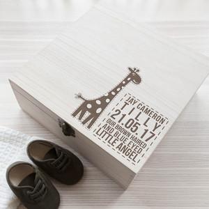 Personalised Baby Giraffe Keepsake Box From Something Personal