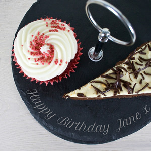Personalised Two Tier Slate Cake Stand From Something Personal