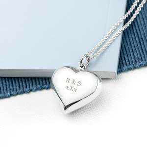 Personalised Cherish Heart Necklace From Something Personal