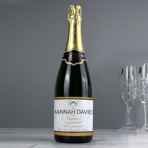 Personalised Damask Champagne From Something Personal