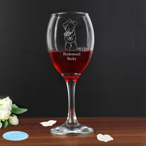 Personalised Me To You Wedding Female Wine Glass From Something Personal