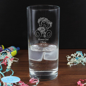 Personalised Me To You Engraved Wedding Girl Hi Ball Glass From Something Personal