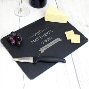 Personalised Perfectly Aged Slate Cheeseboard From Something Personal