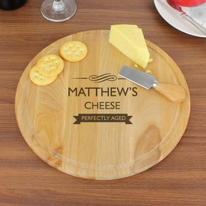 Personalised Perfectly Aged Round Chopping Board From Something Personal