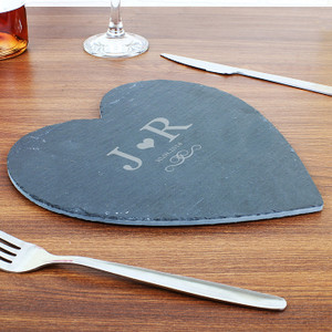 Personalised Family Slate Heart Placemat From Something Personal