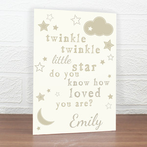 Personalised Twinkle Twinkle Card From Something Personal