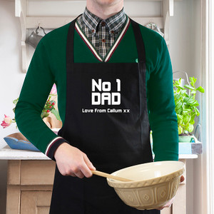 Personalised No1 Dad Apron From Something Personal