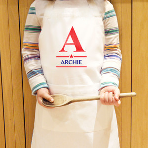 Personalised Boys Initial Kids Apron From Something Personal