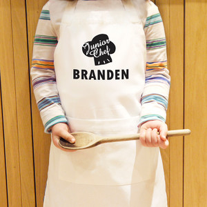 Personalised Junior Chef Kids Apron From Something Personal