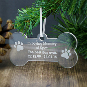 Personalised Acrylic Dog Bone Decoration From Something Personal