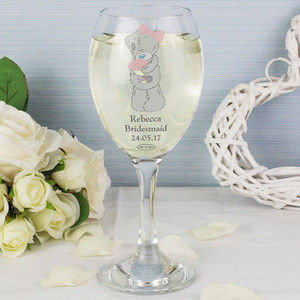 Personalised Me To You Wedding Glass From Something Personal