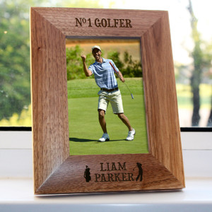 Personalised Top Golfer Engraved Photo Frame From Something Personal