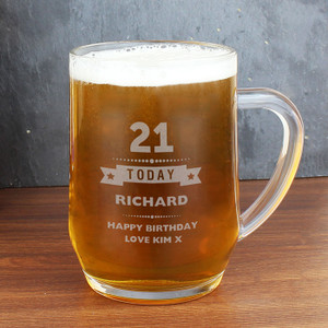 Personalised Birthday Star Tankard From Something Personal