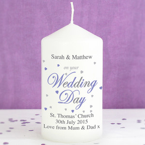 Personalised Wedding Day Candle From Something Personal