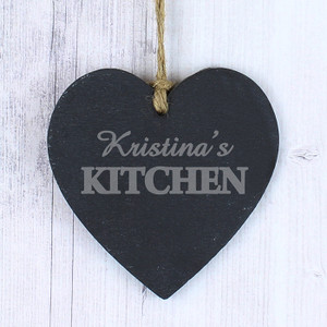 Personalised Kitchen Slate Heart From Something Personal