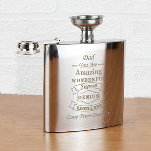 Personalised Vintage Typography Hip Flask From Something Personal