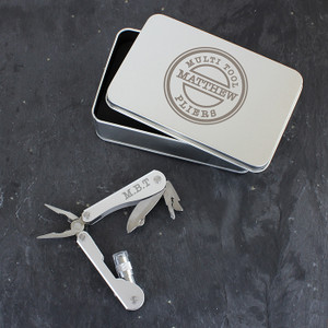 Personalised Stamp Motif Stainless Steel Multifunctional Pliers From Something Personal