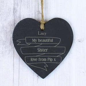 Personalised Garden Bloom Slate Heart From Something Personal