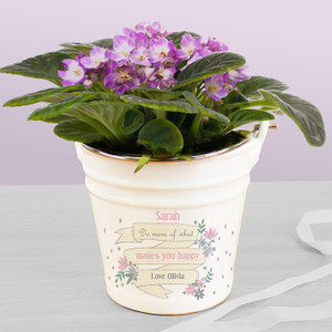 Personalised Garden Bloom Porcelain Bucket From Something Personal