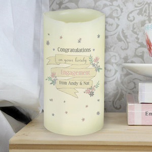 Personalised Garden Bloom LED Candle From Something Personal