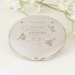 Personalised Garden Bloom Compact Mirror From Something Personal