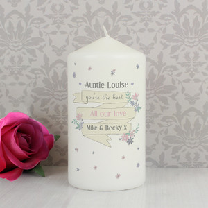 Personalised Garden Bloom Candle From Something Personal