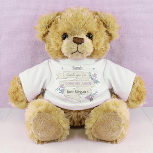 Personalised Garden Bloom T-Shirt Message Bear From Something Personal