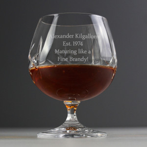 Personalised Crystal Small Brandy Glass From Something Personal