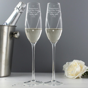 Personalised Diamante Flutes With Swarovski Elements From Something Personal