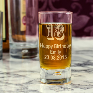 Personalised Age Bubble Shot Glass From Something Personal