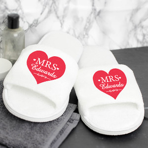 Personalised Mrs Velour Slippers From Something Personal