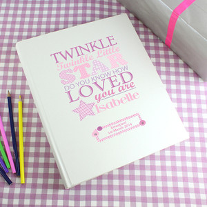 Personalised Twinkle Girls Album From Something Personal
