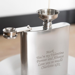 Personalised Boxed Stainless Steel Hip Flask From Something Personal