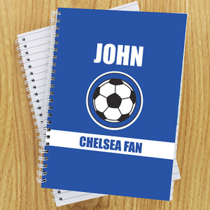 Personalised Dark Blue Football Fan Notebook From Something Personal