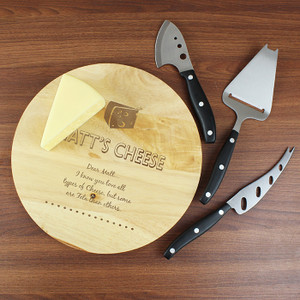 Personalised Vintage Script Cheeseboard From Something Personal