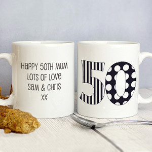 Personalised Monotone Numbers Mug From Something Personal