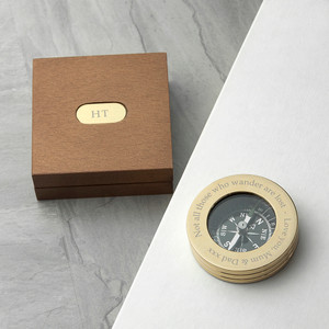 Personalised Brass Travellers Compass From Something Personal