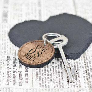 Personalised Custom Special Date Keyring From Something Personal