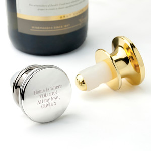 Engraved Message Bottle Stopper