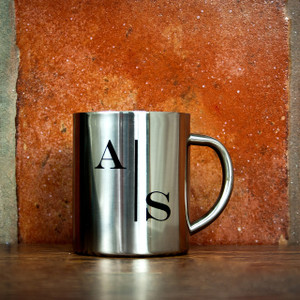 Personalised Monogram Initial Silver Outdoor Mug From Something Personal