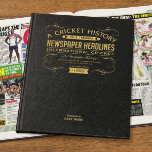 Personalised International Cricket Newspaper Book From Something Personal