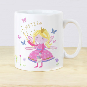 Personalised Garden Fairy Plastic Mug From Something Personal