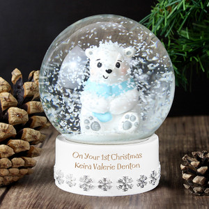 Personalised Polar Bear Snow Globe From Something Personal