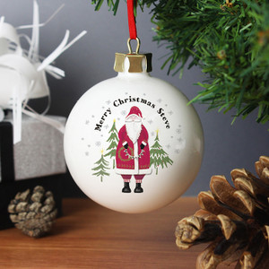 Personalised Father Christmas Bauble From Something Personal