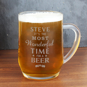 Personalised Wonderful Time For A Beer... Glass Tankard From Something Personal