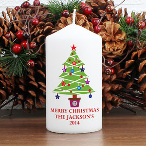 Personalised Merry Christmas Tree Candle From Something Personal