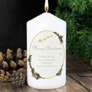 Personalised Traditional Christmas Candle From Something Personal