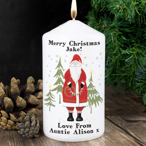 Personalised Father Christmas Candle From Something Personal