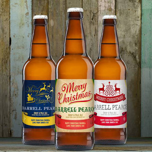 Personalised Christmas Beer Triple Pack From Something Personal