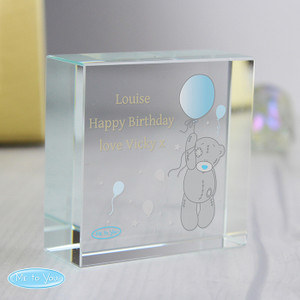 Personalised Me To You Balloon Medium Crystal Token From Something Personal